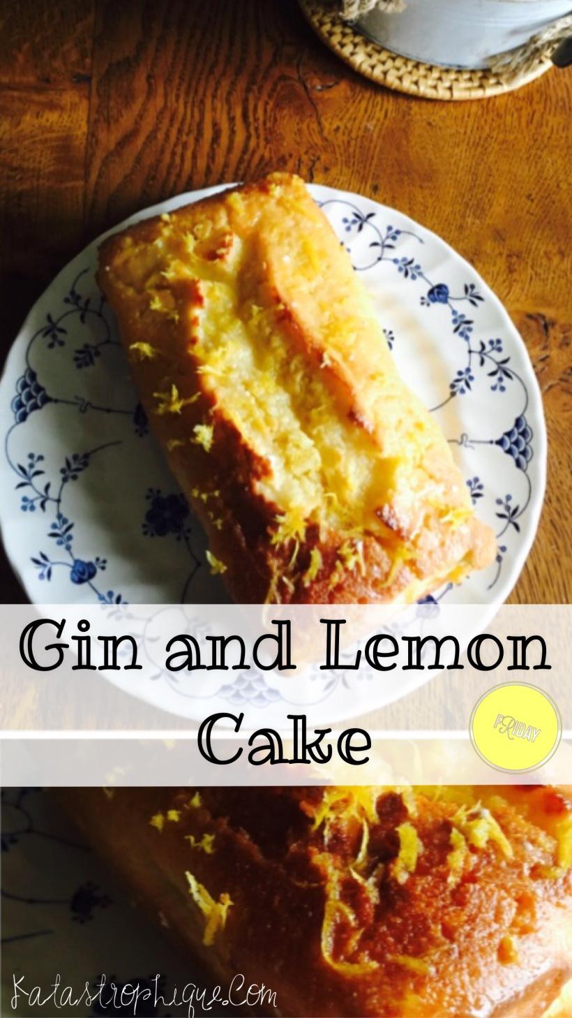gin and lemon cake, gin, lemon, lemon drizzle, cake, baking